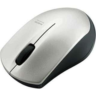 M-BT12BRSV マウス シルバー  [IR LED /3ボタン /Bluetooth /無線(ワイヤレス)]