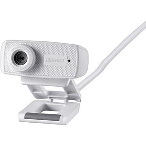 バッファロー マイク内蔵120万画素Webカメラ HD720p対応モデル ホワイト BSWHD06MWH 1台