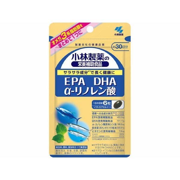 小林製薬の栄養補助食品 DHA EPA α-リノレン酸 305mg 180粒