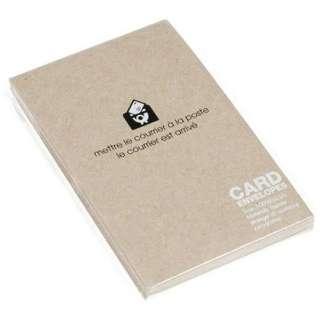 〔カード封筒〕 BASIS [名刺サイズ適応 /15枚] クラフト 0001-ENYBC-K-01