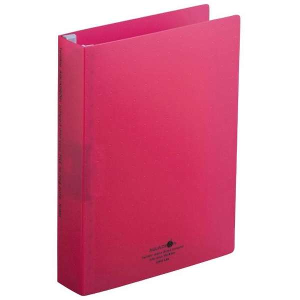 リングノート保存用ファイル AQUA DROPs[B5サイズ /タテ型(S型)29穴] N-1625-3 赤