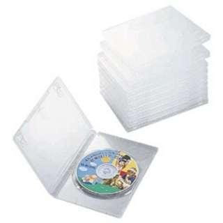 DVDトールケース 1枚組収納×10 クリア CCD-DVD03CR