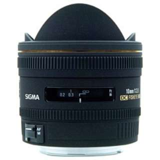 カメラレンズ 10mm F2.8 EX DC FISHEYE HSM APS-C用 ブラック [シグマ /単焦点レンズ]