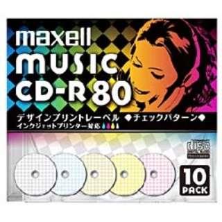 CDRA80PMIXS1P10S 音楽用CD-R [10枚 /インクジェットプリンター対応]
