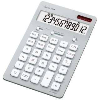 電卓 ナイスサイズ シルバー EL-N802-SX [12桁]