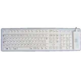 防水ふにゃふにゃキーボード(ホワイト) FKBJ-109BW