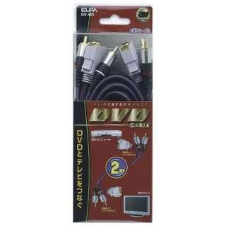 2mD端子ケーブル(D端子+音声⇔D端子+音声)DV-401