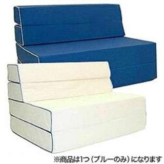 【ソファマットレス】抗菌仕様ソファマットレス セミダブルサイズ(120×200×14cm/ブルー)