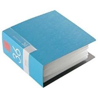 CD/DVDファイル 36枚収納 ブルー BSCD01F36BL