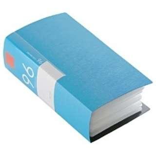CD/DVDファイル ブックタイプ 96枚収納 ブルー BSCD01F96BL