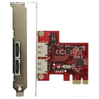 SATA3.0インターフェースカード(PCI-E用・外部ポート) SATA3E2-PCIe