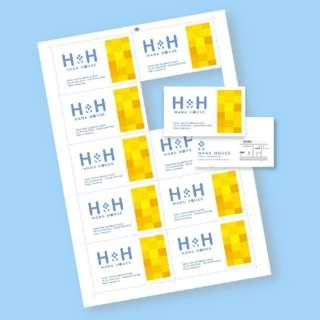 〔インクジェット〕 名刺カード 100枚 (A4サイズ 10面×10シート・ホワイト) JP-MC10EW