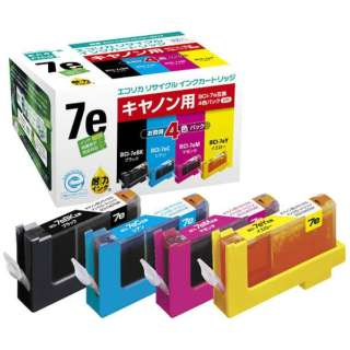 ECI-CA07E4P/BOX 互換プリンターインク エコリカ 4色パック