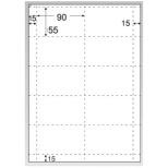 〔インクジェット〕 名刺・カード 光沢&マット 100枚 (A4サイズ 10面×100シート・ホワイト) CJ602