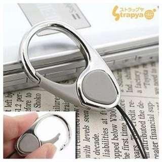 【HandLinker EXTRA】ハンドリンカーエクストラ カラビナリング携帯ストラップ(シルバー) 41-127360