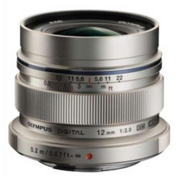 カメラレンズ ED 12mm F2.0 M.ZUIKO DIGITAL(ズイコーデジタル) シルバー [マイクロフォーサーズ /単焦点レンズ]