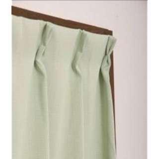 2枚組 ドレープカーテン モイス(100×200cm/グリーン)