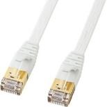 KB-FLU7-10W LANケーブル ホワイト [10m /カテゴリー7 /フラット]
