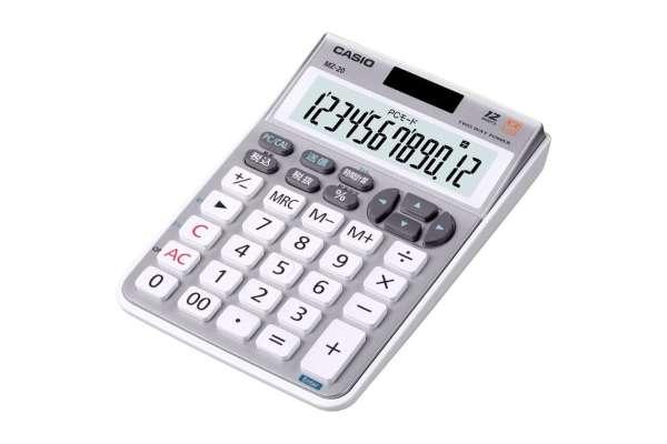 テンキーのおすすめ12選 カシオ「テンキー電卓」MZ-20-SR-N(有線)