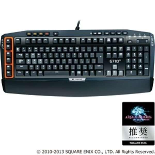 G710p ゲーミングキーボード ブラック [USB /コード ]