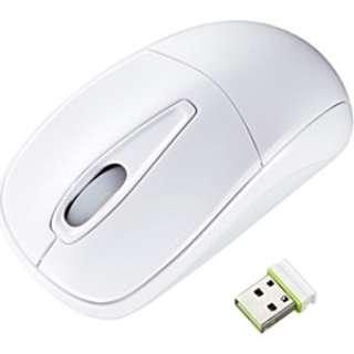 MA-WH123W マウス ホワイト  [光学式 /3ボタン /USB /無線(ワイヤレス)]