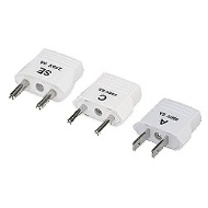 Conversion plug set (A & C & SE set) HPS3KO for overseas travel
