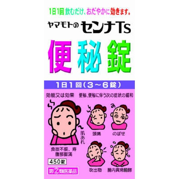 山本漢方 ヤマモトのセンナTS便秘錠 大型 450錠