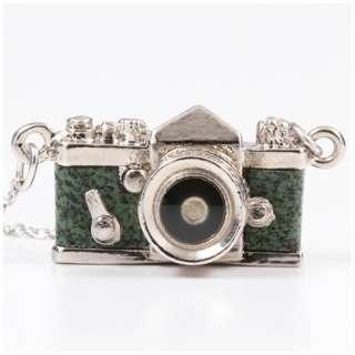 ミニチュアカメラネックレス一眼タイプ グリーン