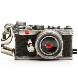 ミニチュアカメラストラップレンジファインダータイプ クラッシックシルバー/レンズ スワロフスキー