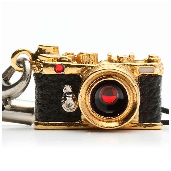ミニチュアカメラストラップレンジファインダータイプ ゴールド/レンズ スワロフスキー