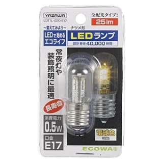 LDT1L-G20-E17 LED電球 クリア [E17 /電球色 /1個 /ナツメ球形]
