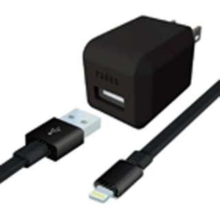 AC充電器+Lightningケーブル 0.8m ブラック AL-ADA61K [USB給電対応 /1ポート]