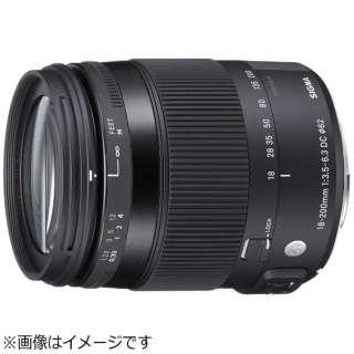カメラレンズ 18-200mm F3.5-6.3 DC MACRO OS HSM APS-C用 Contemporary ブラック [キヤノンEF /ズームレンズ]