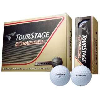 ゴルフボール TOURSTAGE EXTRA DISTANCE《1ダース(12球)/ホワイト 》 【オウンネーム非対応】
