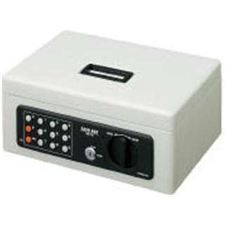 CB-T12M 手提金庫 B5 ライトグレー [鍵式+テンキー式]