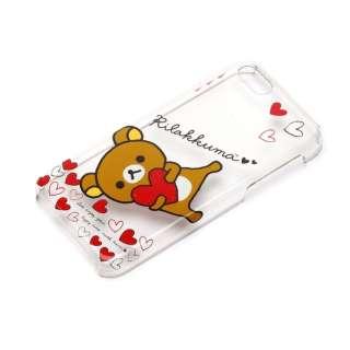 iPhone 5c用 ポリカーボネートケース クリア 「リラックマ」(リラックマ ハート) YY00208