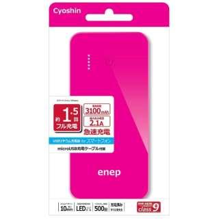 IP3S857 モバイルバッテリー [3100mAh /1ポート /microUSB /充電タイプ]
