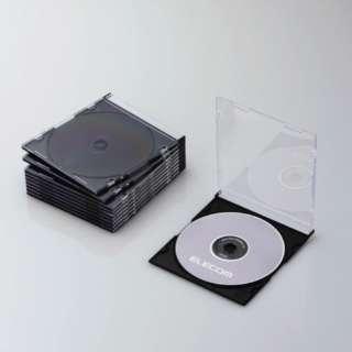 CD/DVD/Blu-ray対応スリムケース 1枚収納×10 ブラック CCD-JSCS10BK