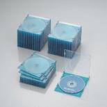 CD/DVD/Blu-ray対応スリムケース 1枚収納×50 クリアブルー CCD-JSCS50CBU