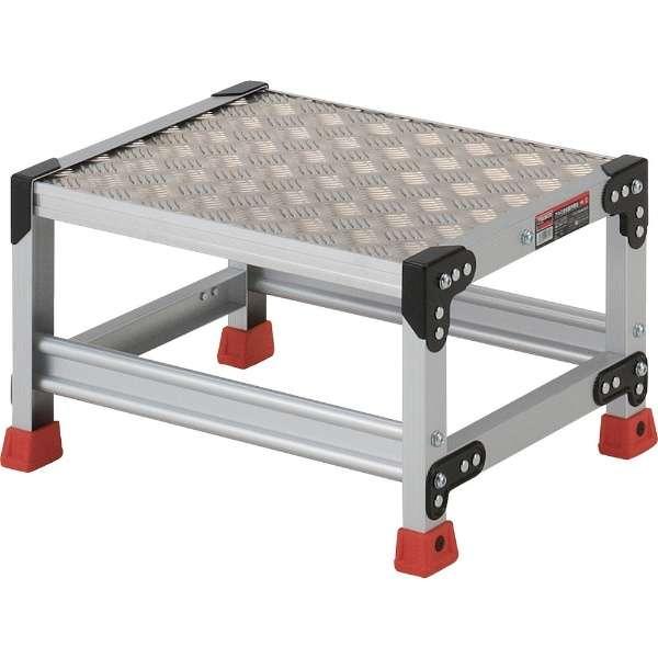 作業用踏台 アルミ製・縞板タイプ 天板寸法500X400XH300 TSFC153