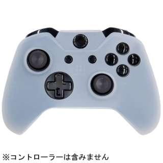 CYBER・コントローラーシリコンカバー(Xbox One用) クリアホワイト【XboxOne】