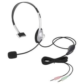 HS-HP21SV ヘッドセット シルバー[φ3.5mmミニプラグ /片耳 /ヘッドバンドタイプ]