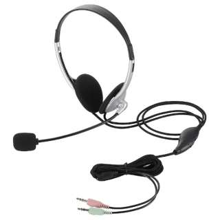 ヘッドセット シルバー HS-HP22SV [φ3.5mmミニプラグ /両耳 /ヘッドバンドタイプ /ダイナミック型(ステレオ)]
