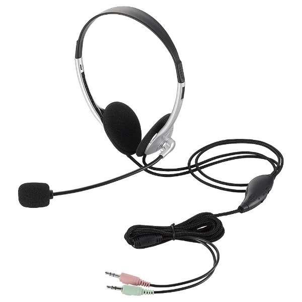 HS-HP22SV ヘッドセット シルバー[φ3.5mmミニプラグ /両耳 /ヘッドバンドタイプ]