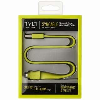 [micro USB]ケーブル 充電・転送 (30cm・グリーン)MIC-DATAG-T [0.3m]