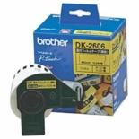 ラベルプリンター用 長尺フィルムテープ(黄色) DK TAPE 黄 DK-2606 [黒文字 /62mm幅]