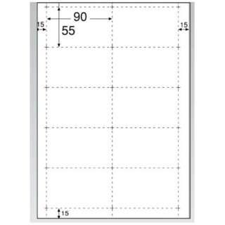 〔各種プリンタ〕 ビジネス名刺 1000枚 (A4サイズ 10面×100シート・ホワイト)  BX06