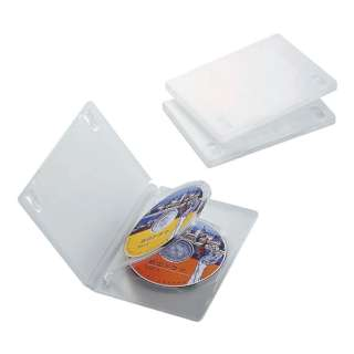 DVDトールケース 3枚収納×3 クリア CCD-DVD07CR