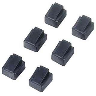 RJ45コネクタ保護キャップ (ブラック・6個)  LD-RJ45CAP6
