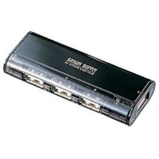 USB-HUB225G USBハブ ブラック [USB2.0対応 /4ポート /バス&セルフパワー]